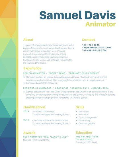 29 Creative And Beautiful Resume Templates Wisestep Animated Resume Templates