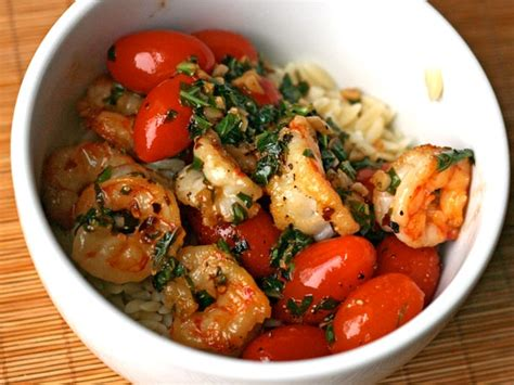 dinner tonight garlic shrimp with basil tomatoes and pepper flakes recipe serious eats
