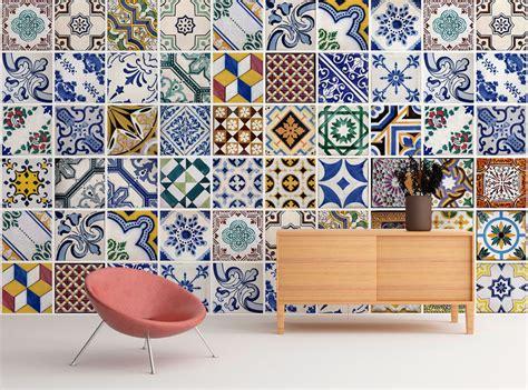 Wall Mural Tiles wall mural portuguese tiles azulejos repositionable