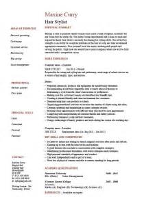 hair stylist resume exle sle trimming cutting