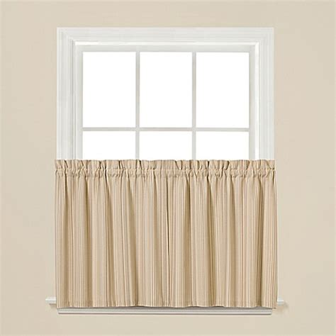36 inch window curtains buy barcode 36 inch window curtain tier pair from bed bath