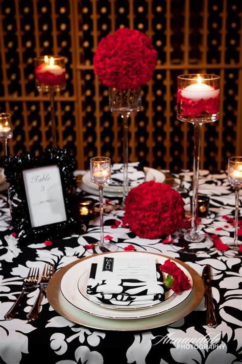 candi s floral creations 187 red black and white weddings