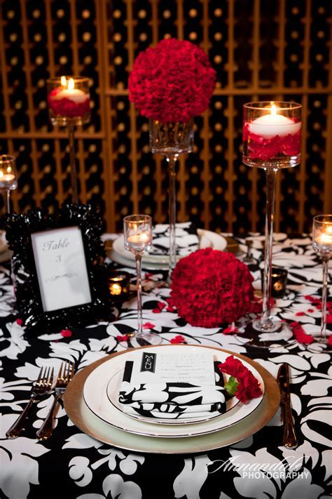 57 Black And Red Table Settings, Red Christmas Table