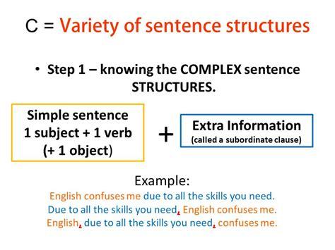 sentence structure complex sentence structure krystaljem