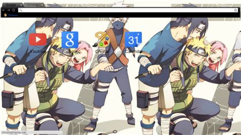 naruto team themes naruto sensei team 7 chrome theme themebeta