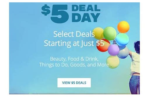 $5 deals on groupon