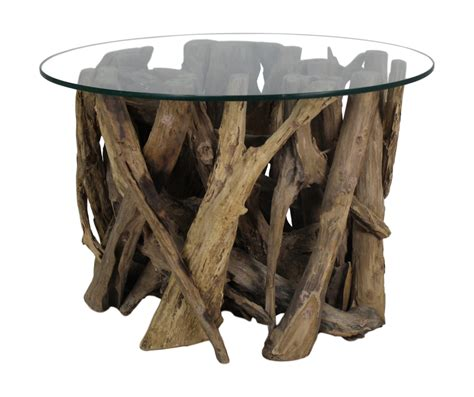 Salontafel Glas Rond salontafel rond met glas teak root salontafels