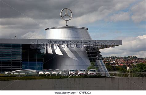mercedes headquarters headquarters mercedes stuttgart stock photos