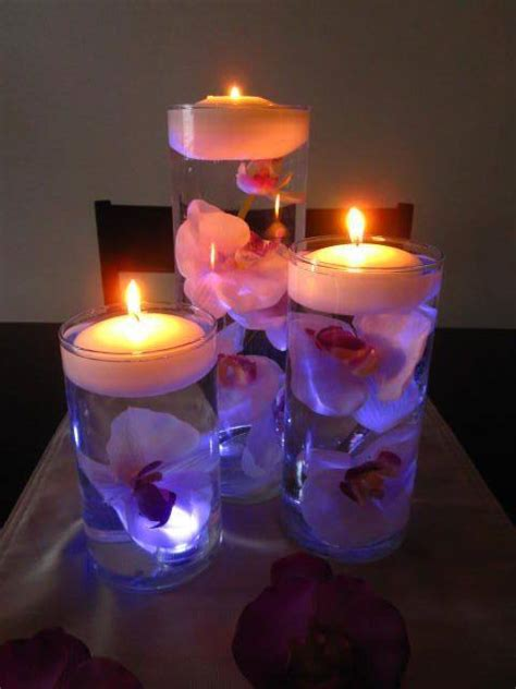 centerpieces with candles and flowers wodnerful diy unique floating candle centerpiece with flower
