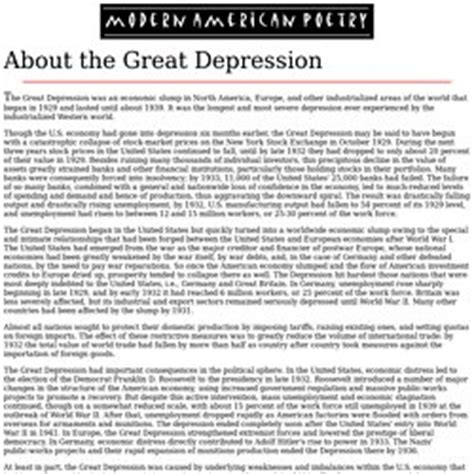 The Great Depression Essays by The Great Depression Essay Introductions The Great Depression Essay Harry S Truman Library