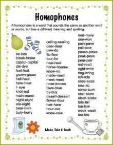 Just click the following link to download this list of homophones
