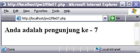 membuat web counter dengan php membuat program aplikasi user counter dengan php