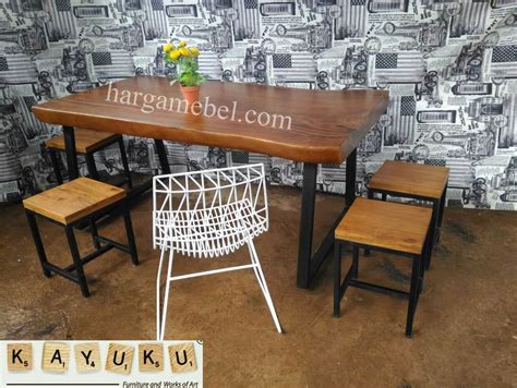 Kursi Set Cafe set meja kursi cafe industrial mebel jepara furniture