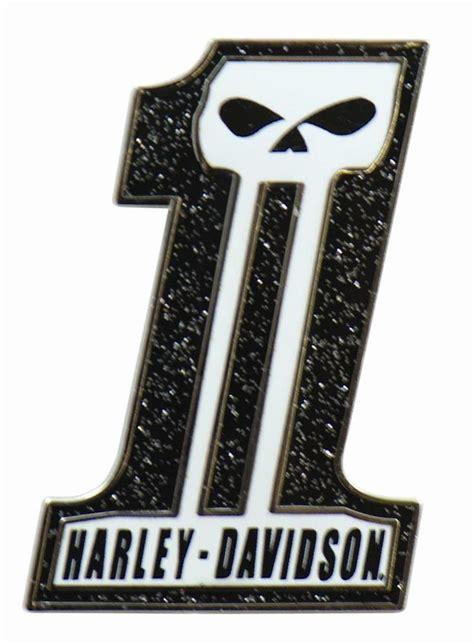 harley davidson number one skull harley davidson usa number one 1 skull vest pin