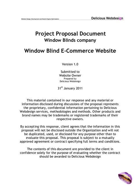 Scope Proposal Ecommerce Website Ecommerce Requirements Document Template