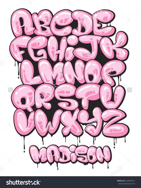 cool bubble letters images  pinterest graffiti
