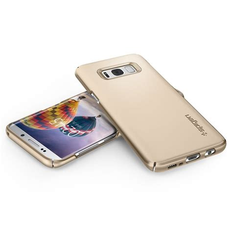 Spigen Galaxy S8 Thin Fit Maple Gold spigen sgp thin fit for samsung galaxy s8 gold maple