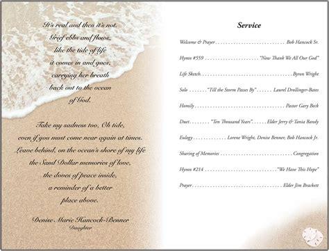 memorial service programs examples oyle kalakaari co