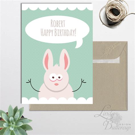printable birthday cards customizable personalized birthday card printable funny birthday card