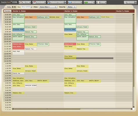 workflow scheduler features clinical workflow backchart