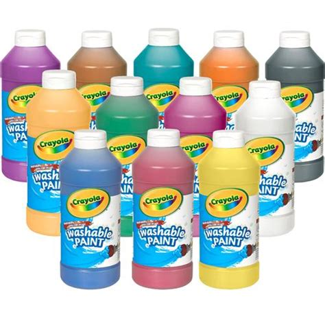 crayola painting crayola 174 washable paint pint becker s school supplies