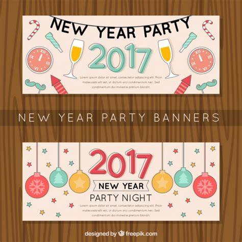 free vector new year banner banners of happy new year vector free