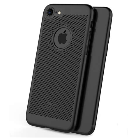 Iphone 6 Plus Anti Casing Cool Mesh Back mesh dissipating heat fingerprint resistant pc shockproof back for iphone 6 6s plus 5