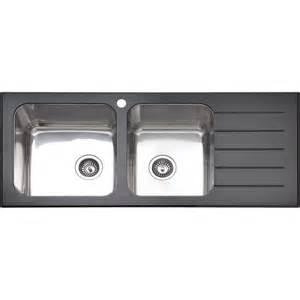 Bunnings Kitchen Sinks Mondella 1 3 4 Quot Black Glass Sink Bunnings Warehouse