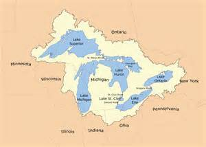 canada map great lakes great lakes basin