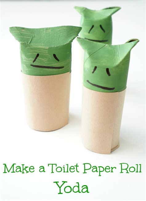 What To Make With Toilet Paper Rolls - make a toilet paper roll yoda