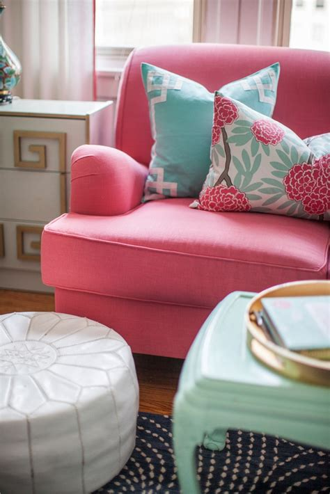 pink couch pillows interior and textile designer caitlin wilson pink couch