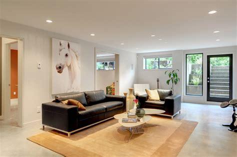 modern basement living room nalle s house walkout basement