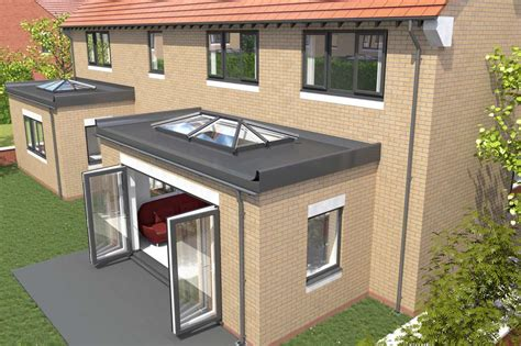 Small Kitchen Extensions Ideas by Saje Upvc Flat Roof Skylights In Hampshire Dorset Sussex