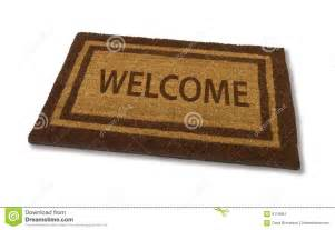 welcome mat stock image image 8119451