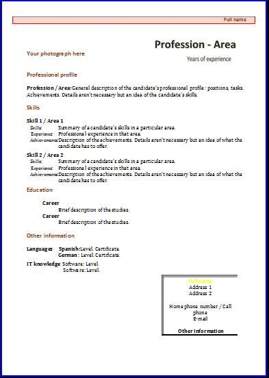 official curriculum vitae format cv formats and templates resume templates