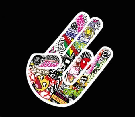 Sticker Aufkleber Kaufen by Sticker Bomb Shocker Hand Aufkleber G 252 Nstig Im Shop