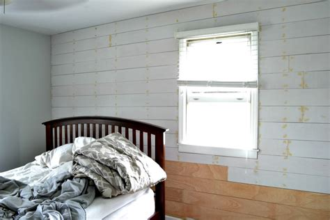 How To Put Shiplap On A Wall Installing A Shiplap Plank Wall On A Budget Orc Week 3