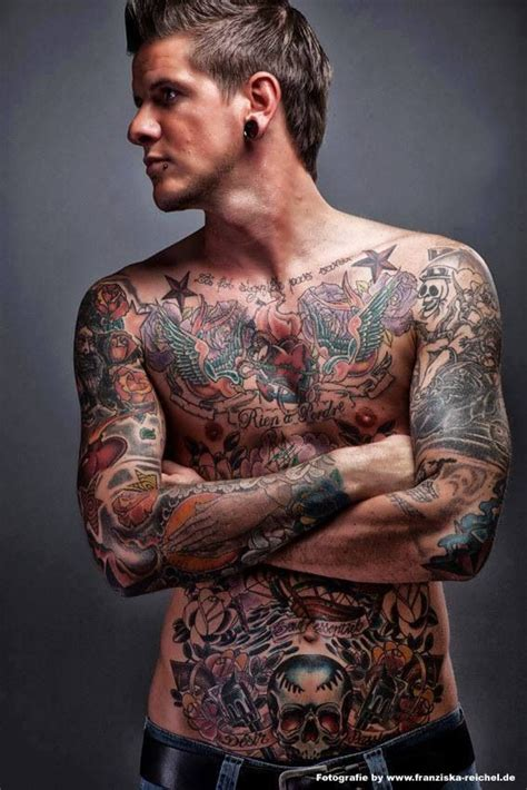 tattoo body guy fully tattooed a man with tattoos pinterest