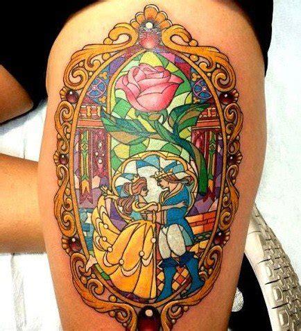 favola della e la bestia incantevoli tatuaggi ispirati alla favola della e la