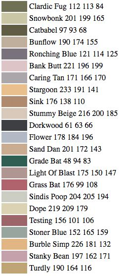 funny paint names ai is absolutely horrible at naming paint colors