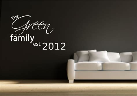 personalised wall sticker quotes personalised family wall quote sticker mural decal vinyl transfer stencil ebay