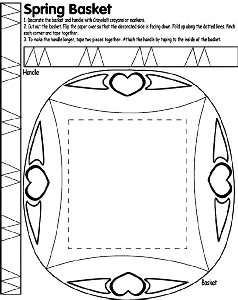 crayola coloring pages that you can print spring basket crayola co uk
