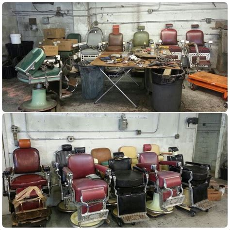 Chair Repair Shop by Avail Chairs Antique Barber Chair Restoration Chrome Porcelain Upholstry Parts Repair