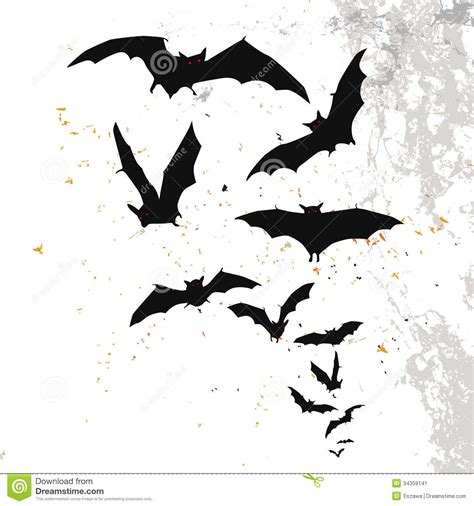 halloween background with a full moon and bats stock
