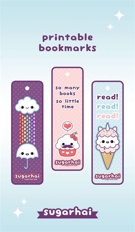 printable bookmarks make your own make your own kawaii bookmarks with these free printables