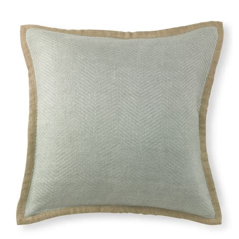 chunky herringbone linen pillow cover williams sonoma