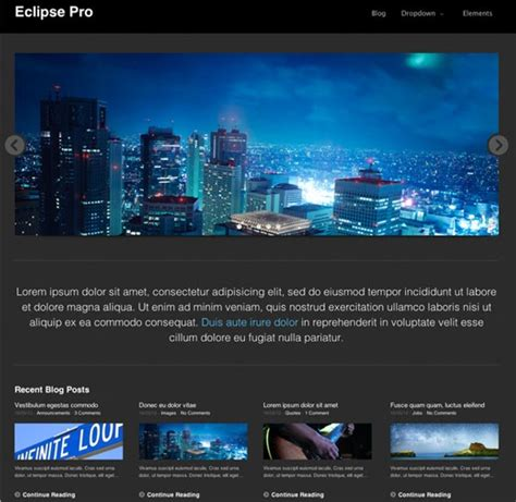 eclipse theme demo free wordpress themes with slider 25 great options