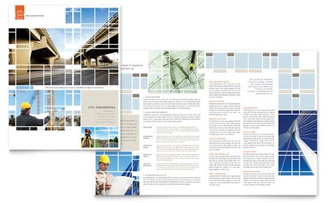 Adobe Home Plans Civil Engineers Brochure Template Design