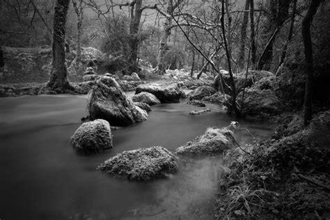 Black And White Black And White River Plym Shaugh Prior