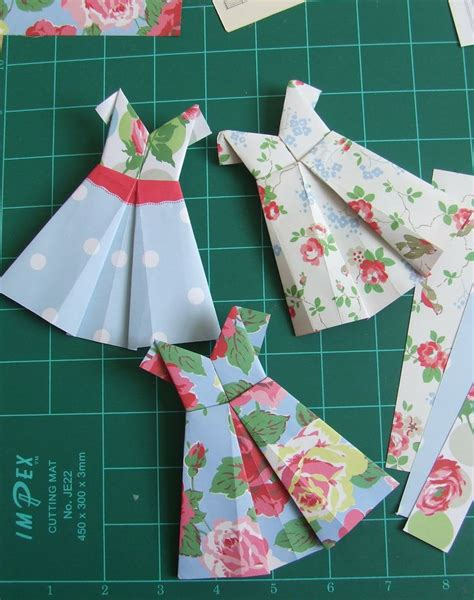 Origami Clothes Folding - 62 best origami dresses images on origami